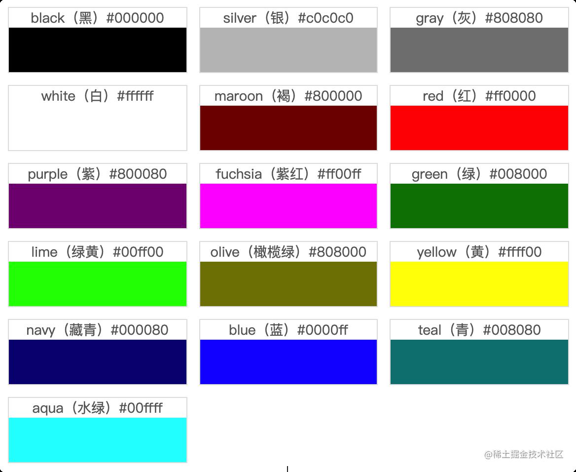 VGA 颜色