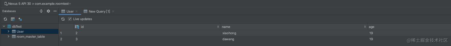 显示DataBase