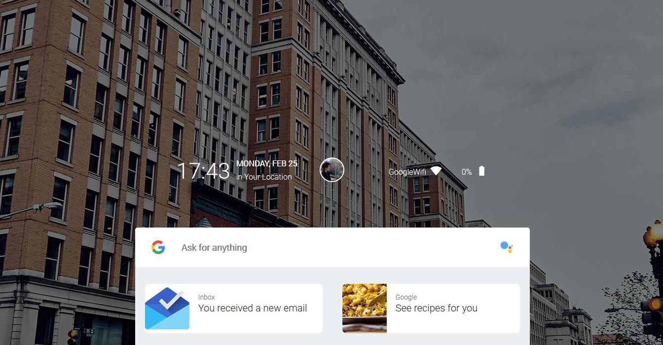 Armadillo – Fuchsia OS用于移动设备的图形用户界面:主屏幕