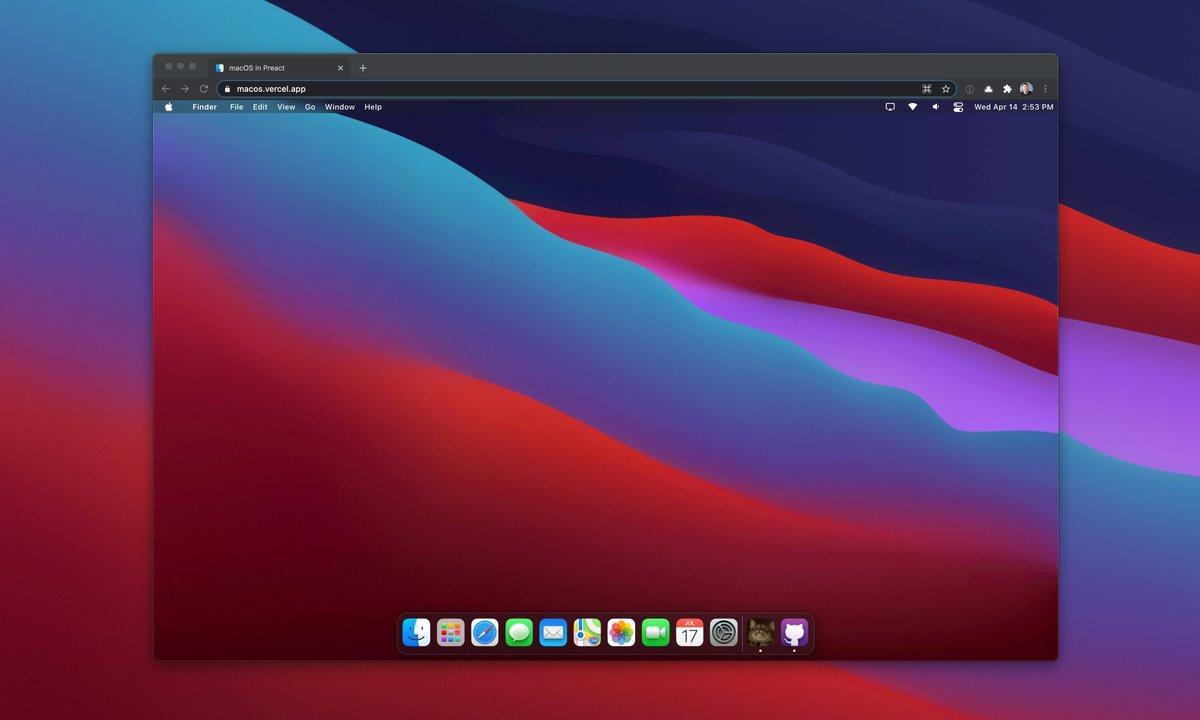 浏览器中运行macOS