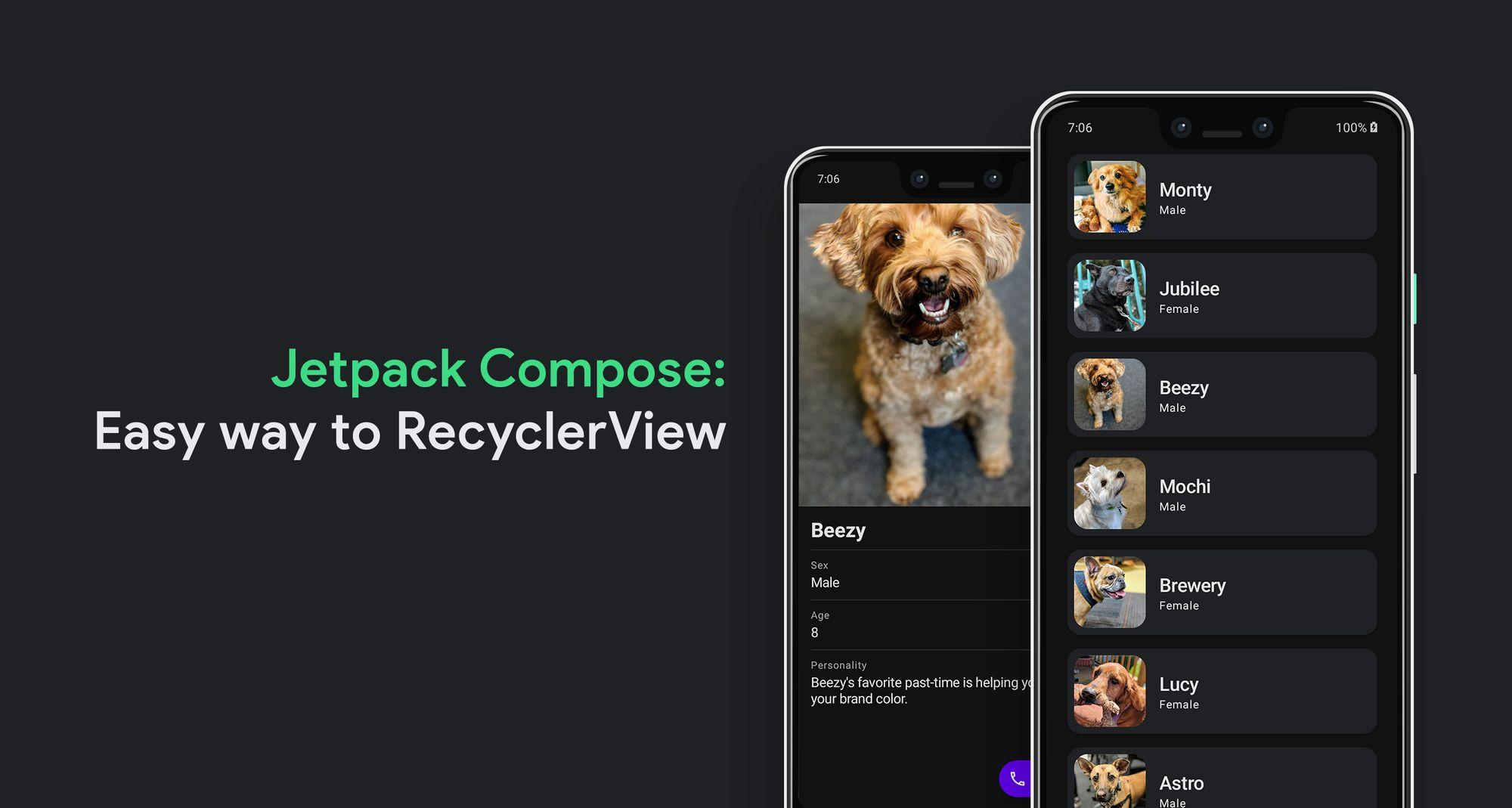 Jetpack Compose:更简便的 RecyclerView(第一部分)