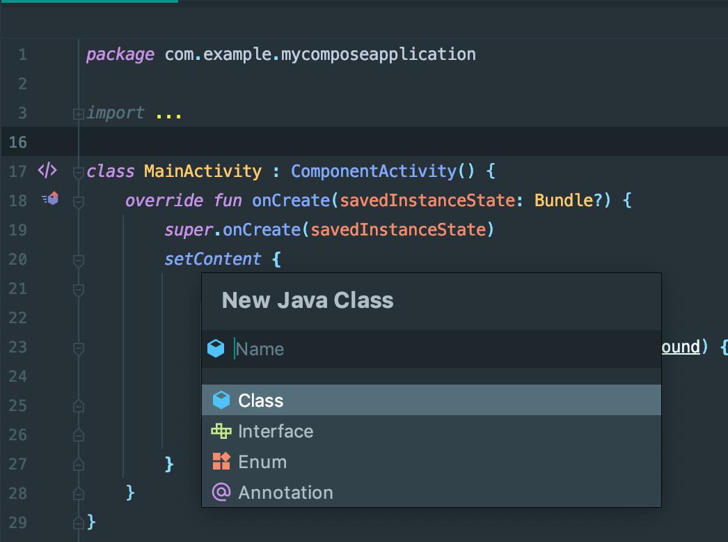 新建 Java 类