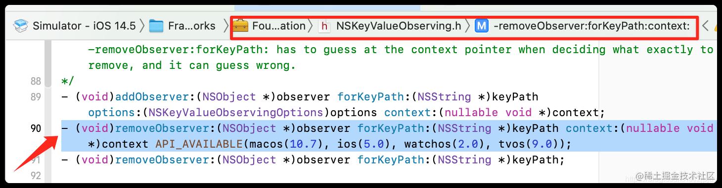 removeObserver: forKeyPath :