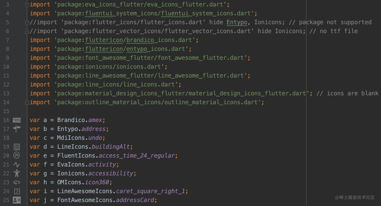 IntelliJ / Android Studio 中的图标预览