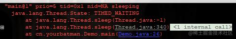 main线程sleep了一把