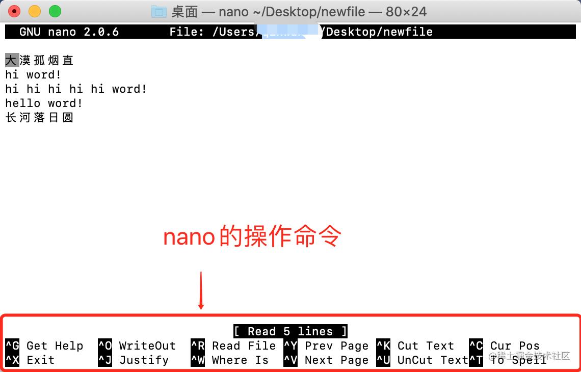 nano编辑器