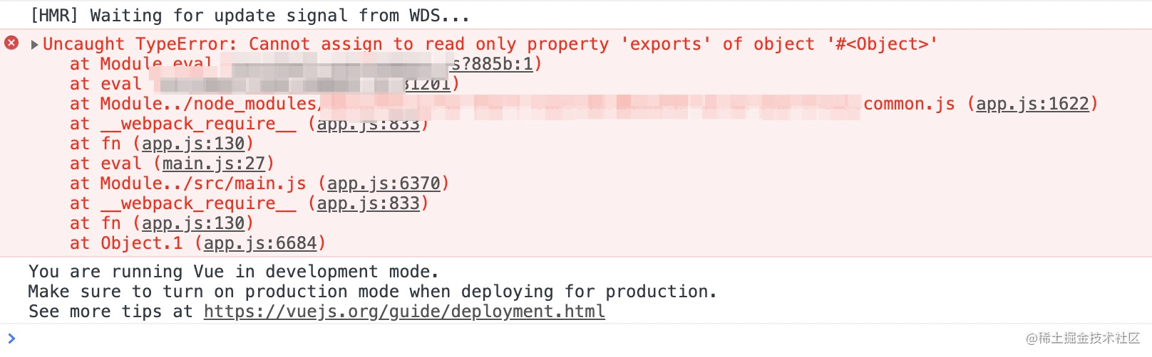 Uncaught TypeError: Cannot assign to read only property ...
