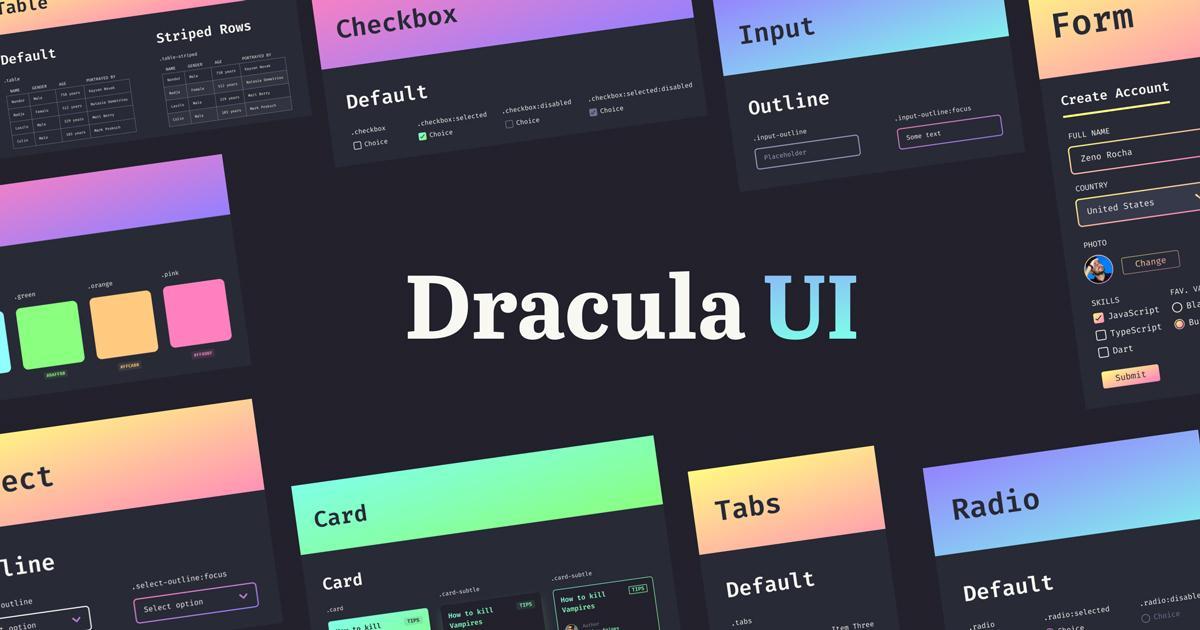 Dracula UI暗色系组件