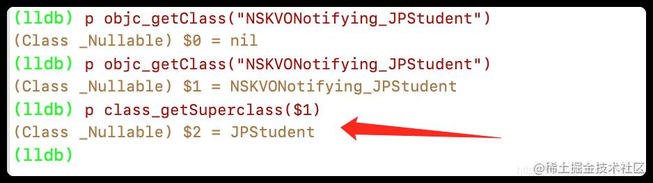 验证NSKVONotifying_JPStudent是JPStudent的子类