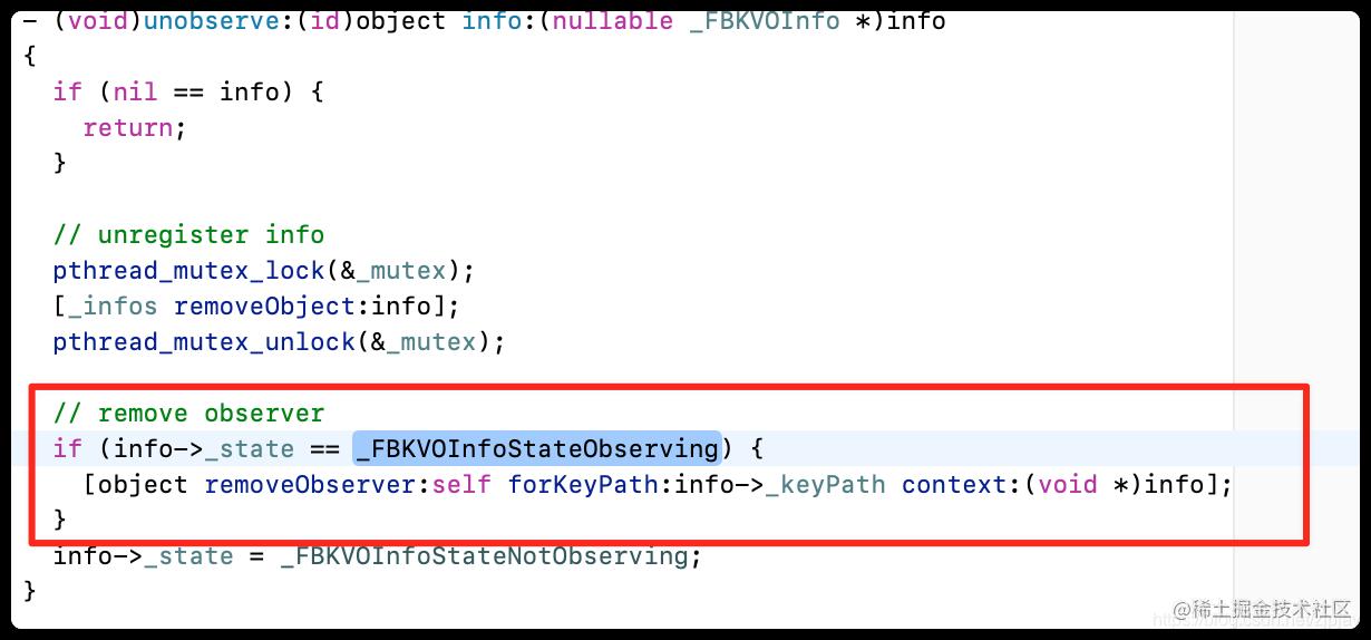 unobserve:(id)object info:
