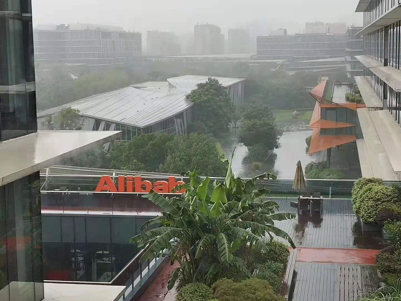 雨中的阿里
